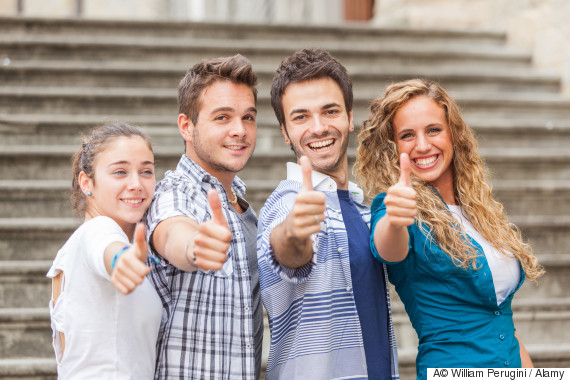 friends thumbs up