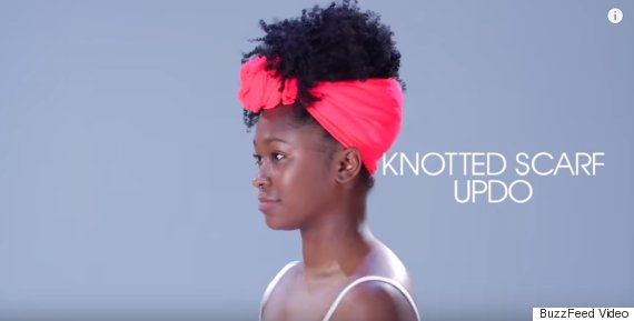 knotted scarf updo