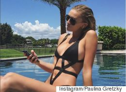 Paulina Gretzky Channels Her Inner Goddess In Sexy Pool-Side Selfie