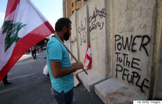 beirut protest