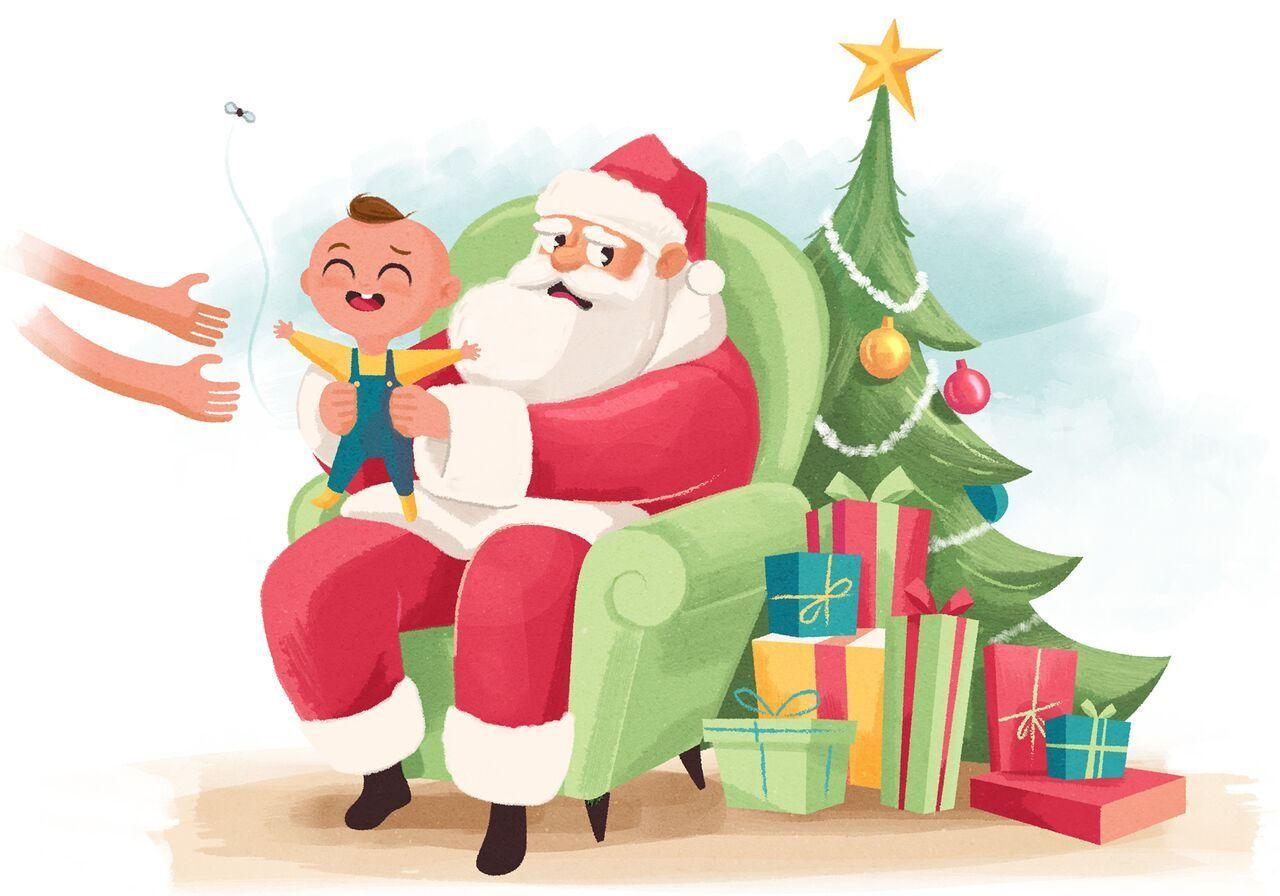 child visiting santa