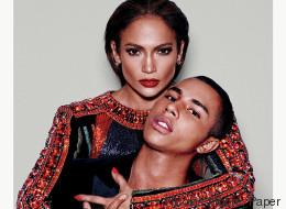 J. Lo y Balmain son el rostro del lujo para la revista Paper