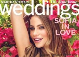 Sofía Vergara se viste de novia y posa para una revista de bodas