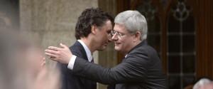 Trudeau Harper