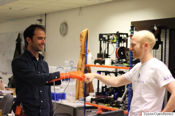 low cost open bionics robotics hand