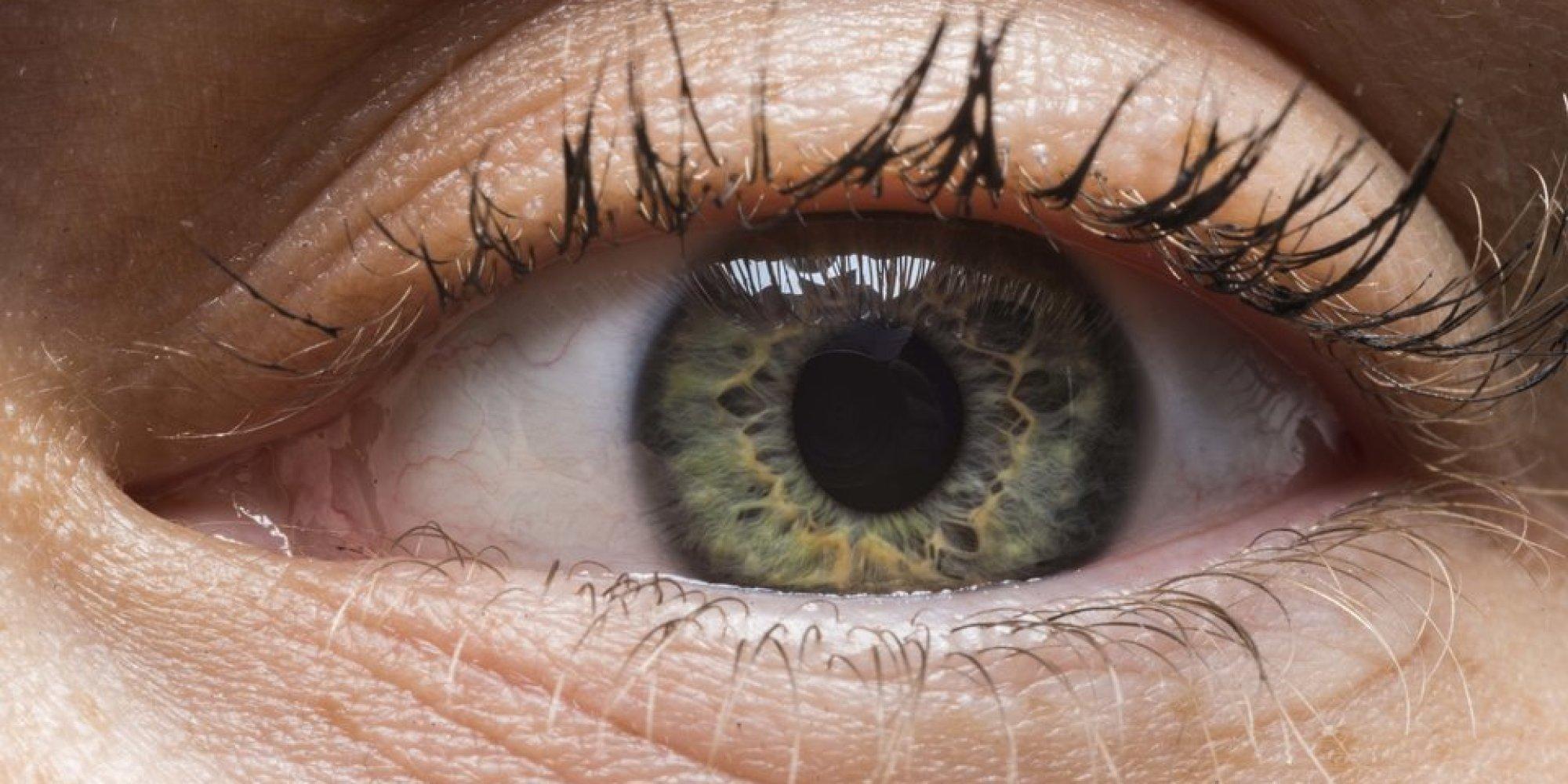 Der Kreis des Auges schauten ins Gesicht