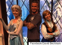 David Beckham Makes Harper's Frozen Dreams Come True