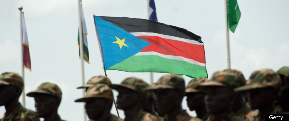 SOUTH SUDAN MILITARY FLAG
