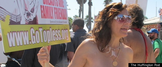 Go Topless Day Protest