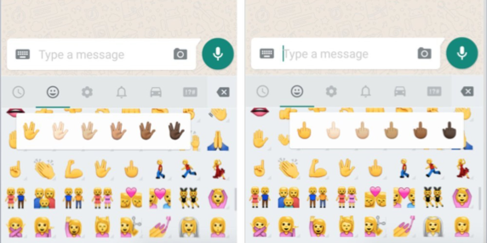 whatsapp unveils middlefinger emoji and other changes for
