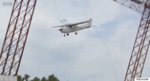 nasa crash plane from 100 feet in the name of science