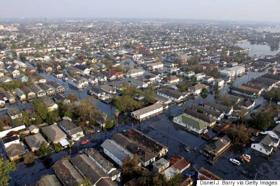 New Orleans underwater, five days after Hurricane Katrina hit.