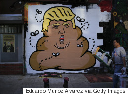 Someone Has Painted A Mural Of Donald Trump As A Giant Steaming Turd In Downtown NYC