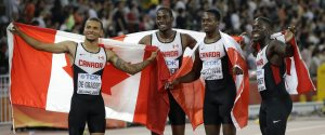 MENS 4X100 RELAY TEAM BRONZE CANADA
