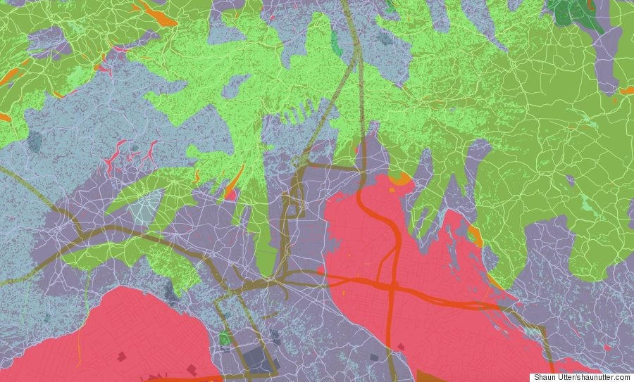 google maps generative art
