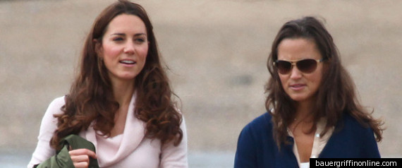 KATE AND PIPPA MIDDLETON TAKE A WALK ON THE BEACH