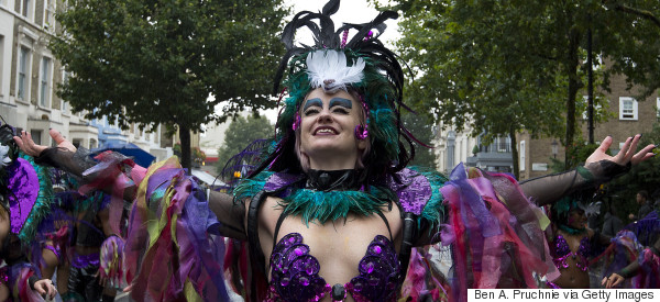 Rain Is Most Certainly Not Dampening Spirits At The Notting Hill Carnival