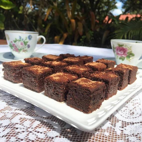 banana flour brownies