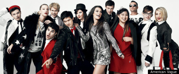Glee Cast Take On David Bowies Fashion For Vogue S