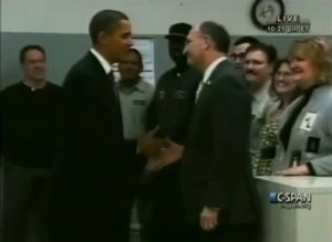 Obama Awesome Handshake