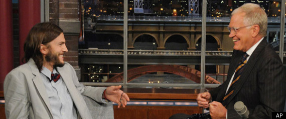 Ashton Kutcher Late Show