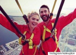Kate Upton And Boyfriend Justin Verlander Do Toronto Edgewalk At CN Tower
