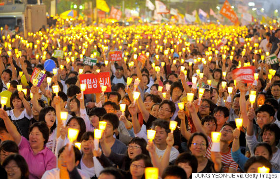 candle rally seoul