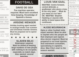 Football Managers Resorting To Classified Ads After Deadline Day Flops