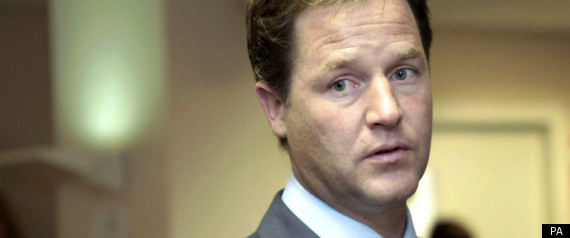 Nick Clegg Blue Paint