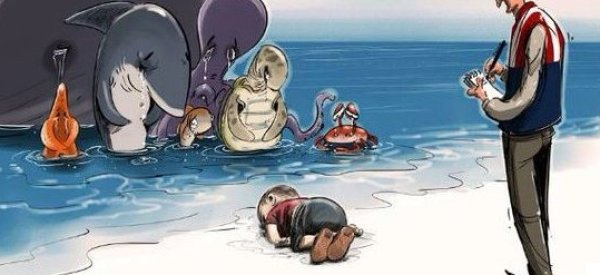 Heartbreaking Cartoons Capture World's Sadness Over Drowned Syrian Boy