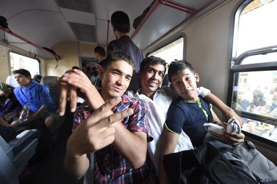 refugiados tren