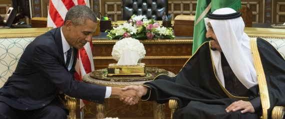 KING SALMAN WITH PRESIDENT OBAMA