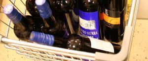 Wine Bottles In A Cart