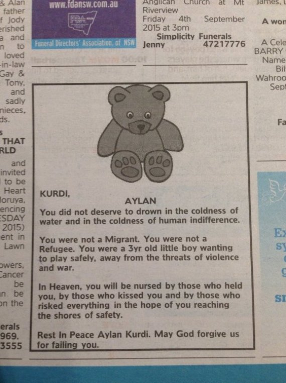 syndey morning herald aylan kurdi