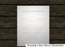 This Website Will Let You Generate Your Own Pretentious Hipster Restaurant Menu