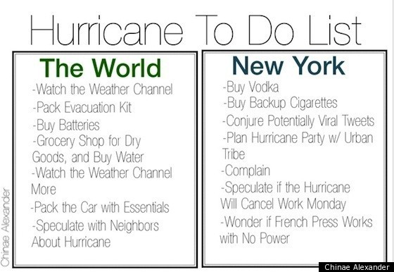 How to prepare for a hurricane list