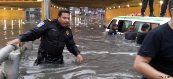 D.F., AZOTADA POR LAS PEORES LLUVIAS EN MEDIO SIGLO