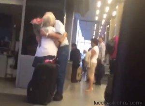 elderly man at airport