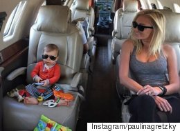 Paulina Gretzky Has A Twinsie Moment With Her Son