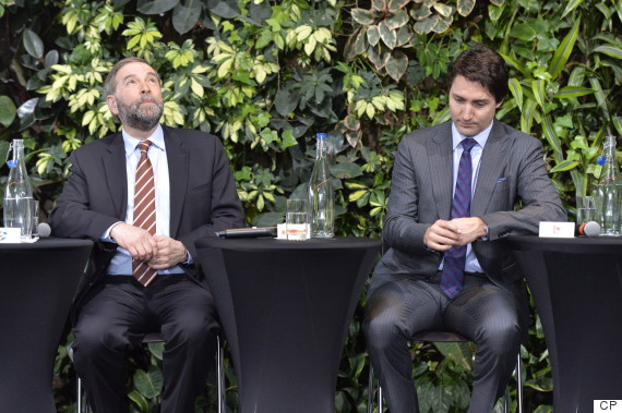 justin trudeau thomas mulcair