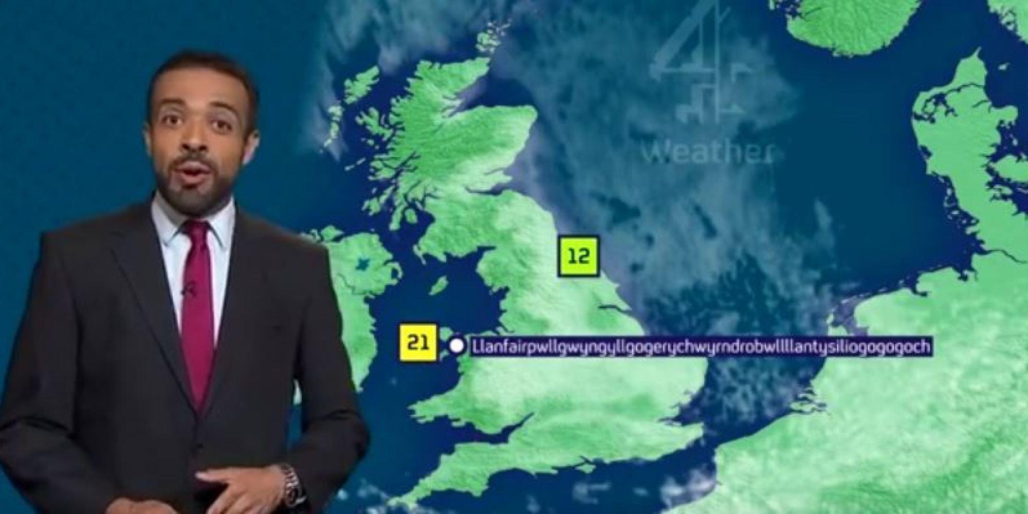 weather presenter nails pronunciation of