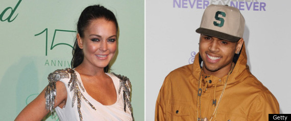 LINDSAY LOHAN CHRIS BROWN