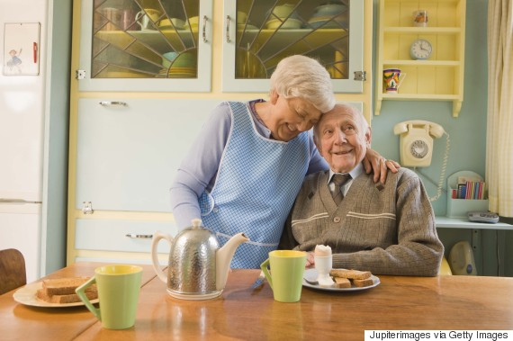 elderly woman care home