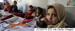 CHILD SCHOOL REFUGEE SYRIA