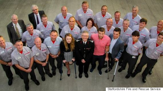 alton towers victims with fire crews