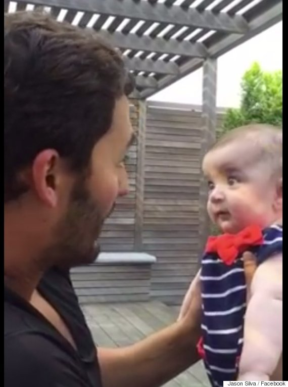 funny reaction baby