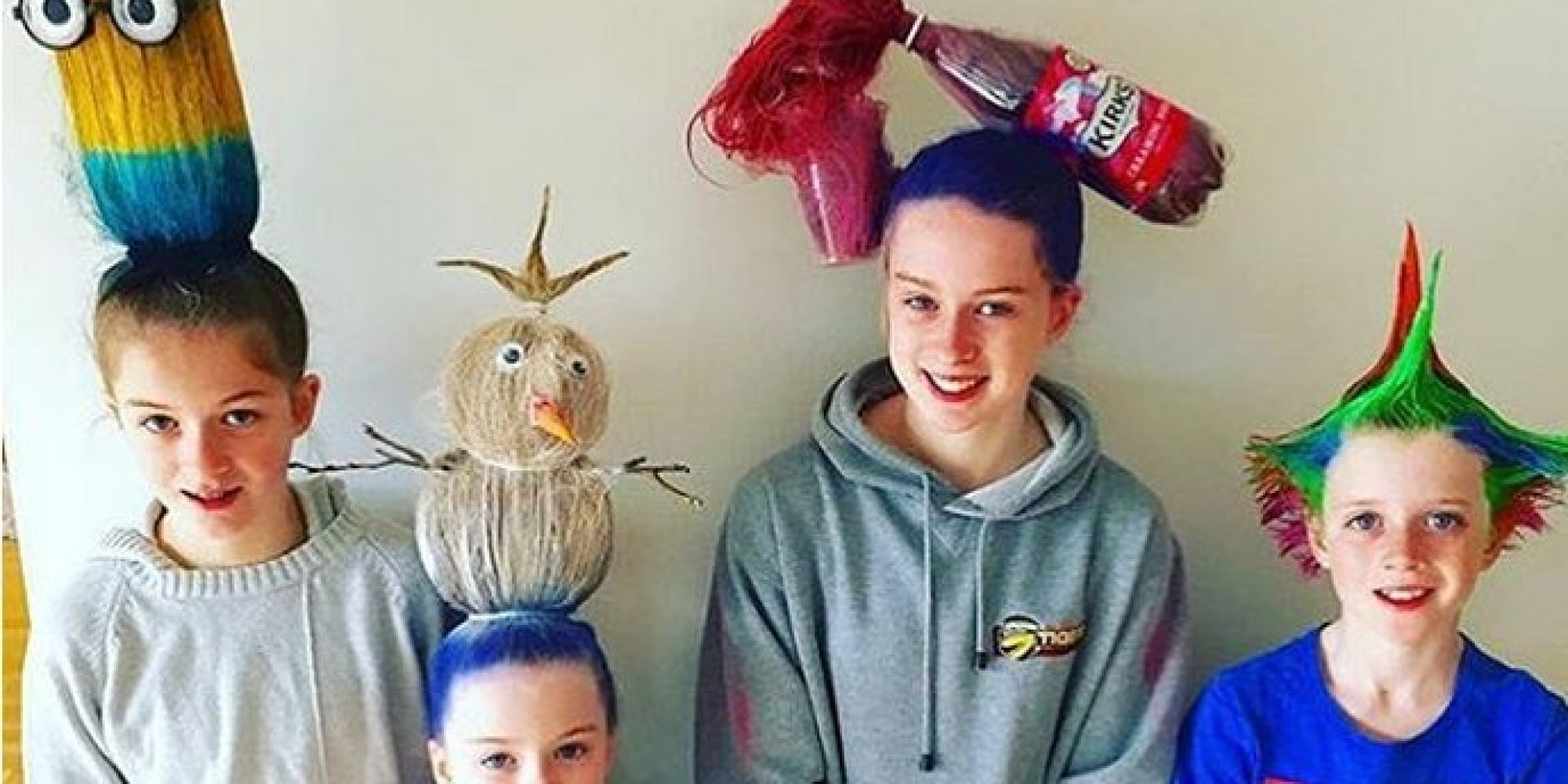 """my friend's daughter had """"crazy hair day"""" at school today. : funny"""