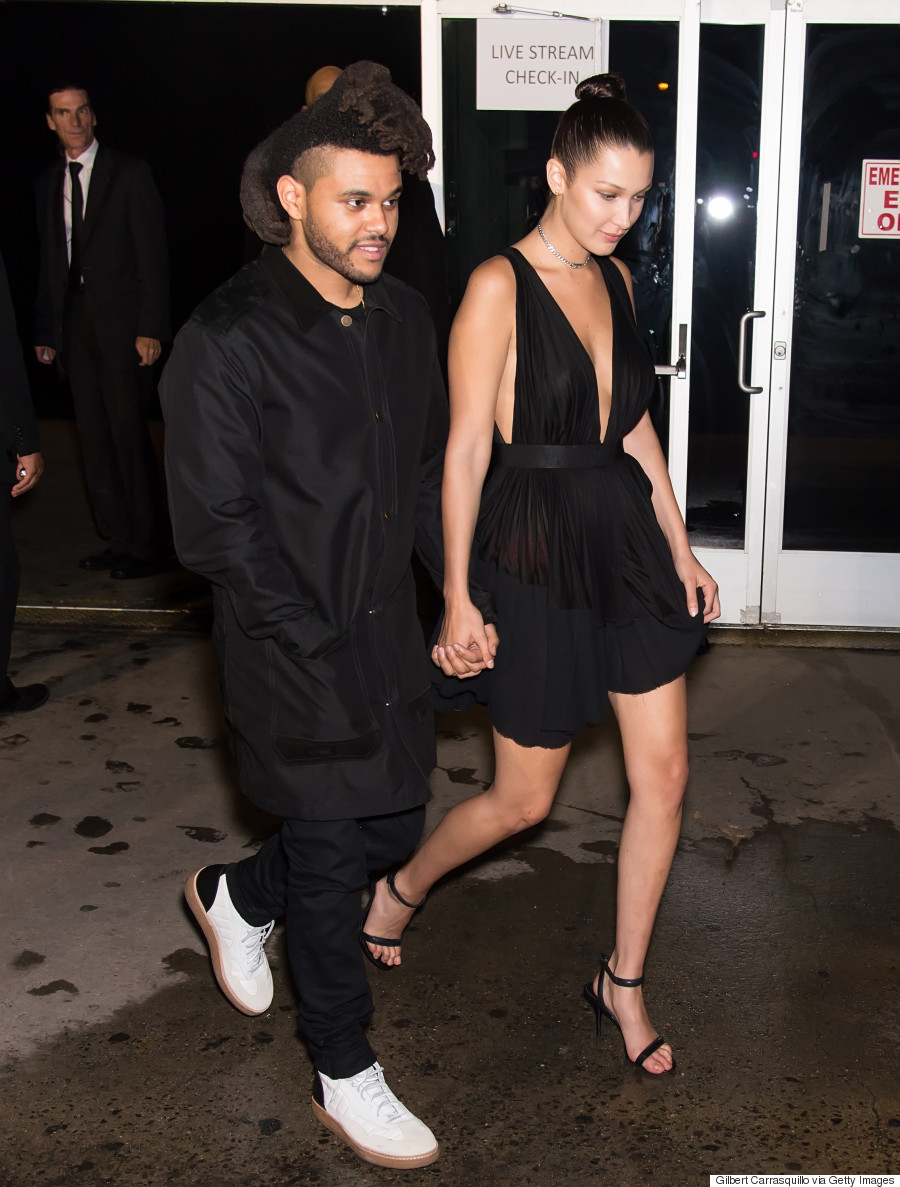 The Weeknd Supports Girlfriend Bella Hadid At Nyfw