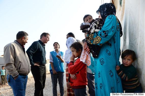 david cameron refugee camp