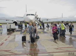 Este ha sido el primer aterrizaje de un vuelo comercial en Castellón